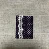 【グッズ】【手製本・豆本・絵本】豆本ノート(小)3-紫の水玉