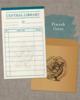 【グッズ】図書貸出票型メッセージカード:緑(蔵書票シリーズ)