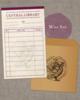 【グッズ】図書貸出票型メッセージカード:赤(蔵書票シリーズ)