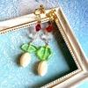 【グッズ】メロンクリームソーダカラーのイヤリング