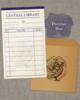 【グッズ】図書貸出票型メッセージカード:青(蔵書票シリーズ)